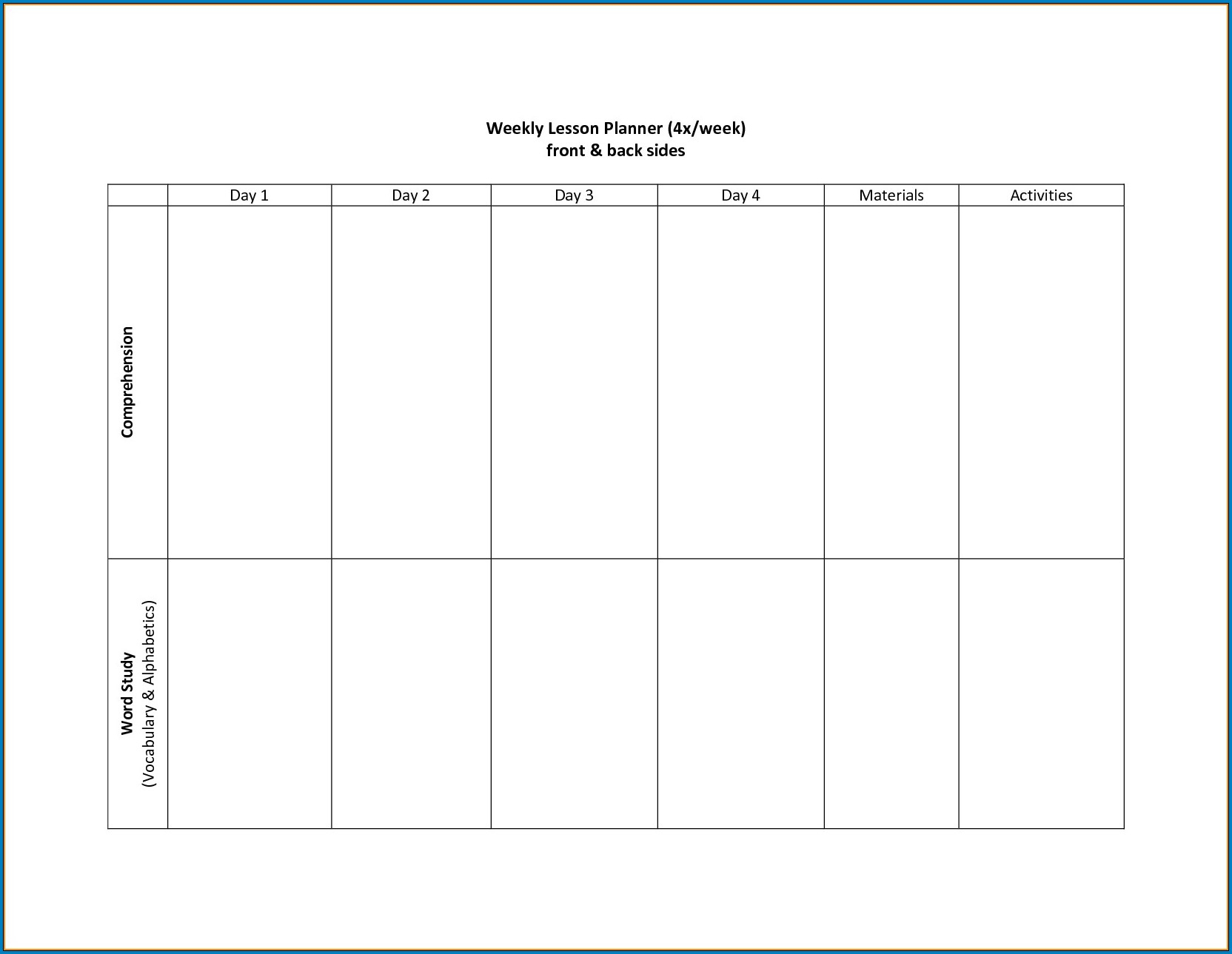 √ Free Printable 2 Week Calendar Template | Templateral