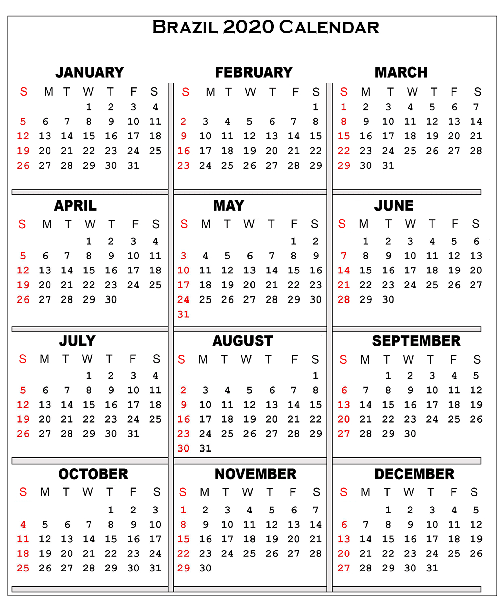 ❤️free Printable 2020 Public Holiday Calendar Template