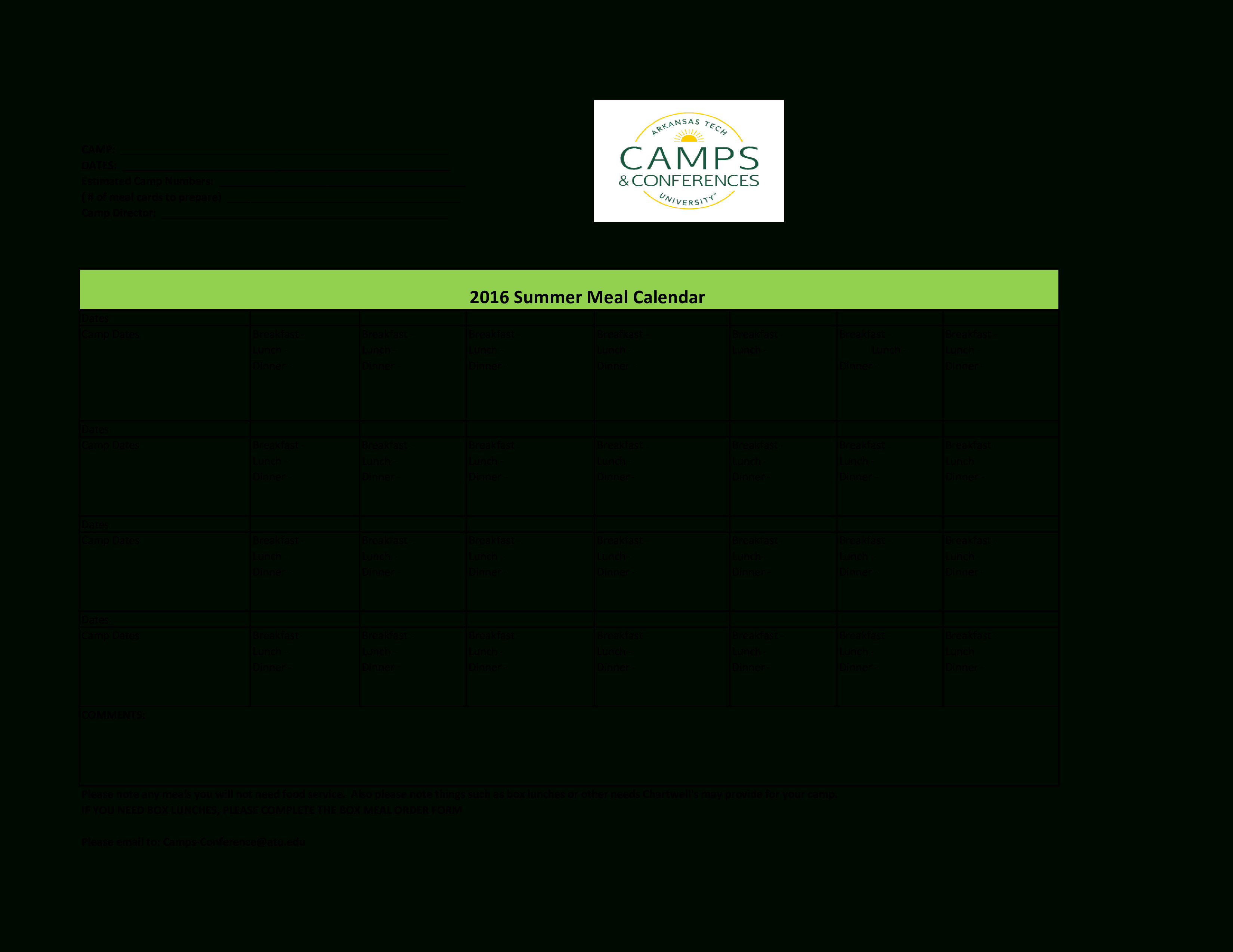 Editable Calendar | Templates At Allbusinesstemplates