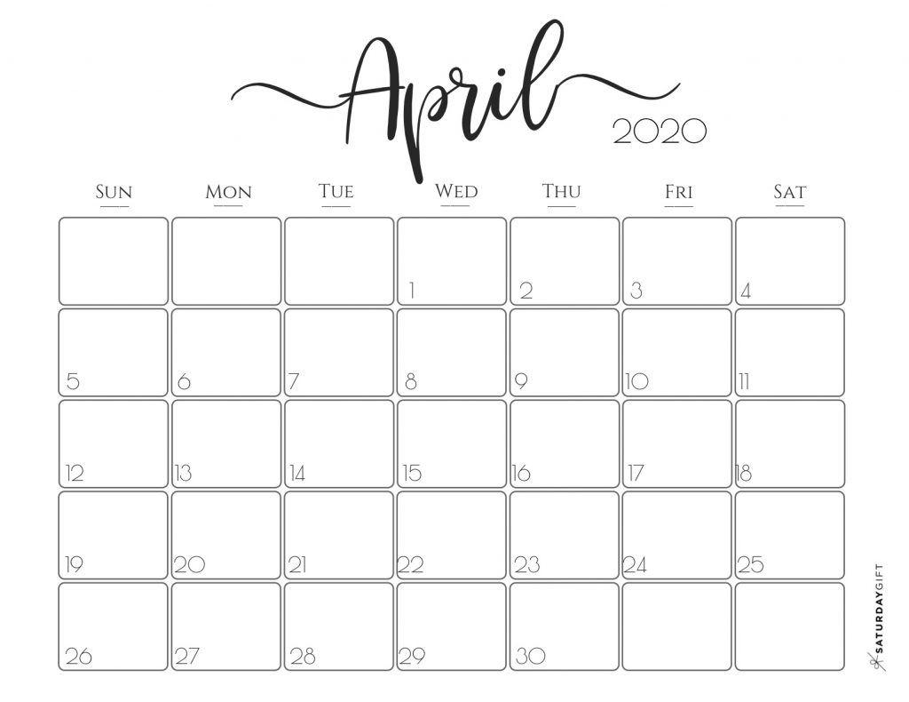 Elegant 2020 Calendar {Free Printables} | Calendar