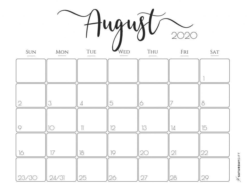 Elegant 2020 Calendar {Free Printables} | Free Printable