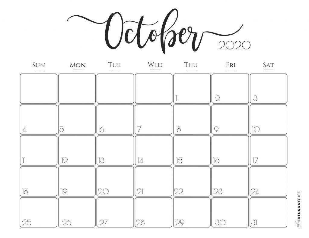 Elegant 2020 Calendar {Free Printables} | Printable Calendar