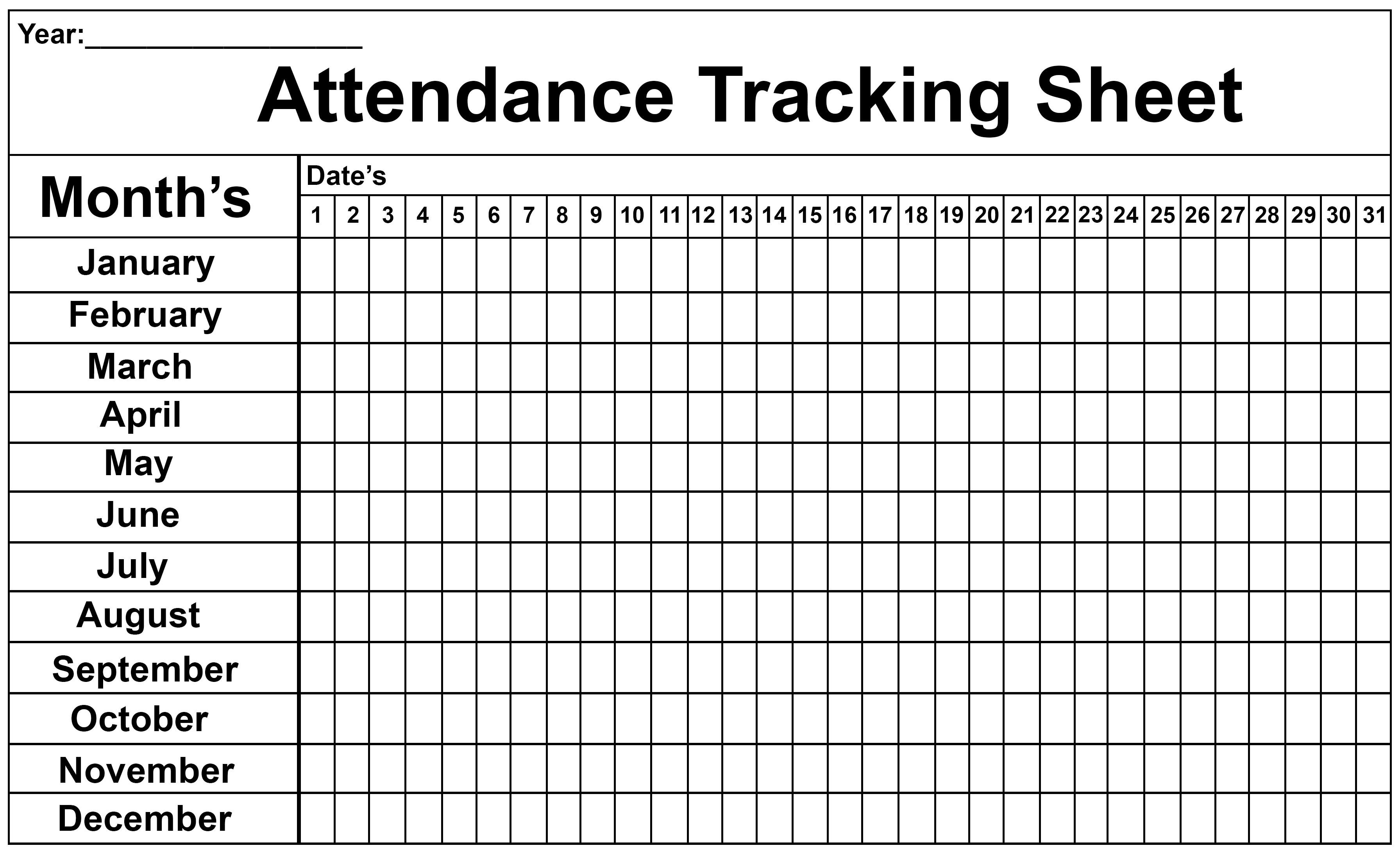 Employee Attendance Tracker Sheet 2019 | Printable Calendar Diy