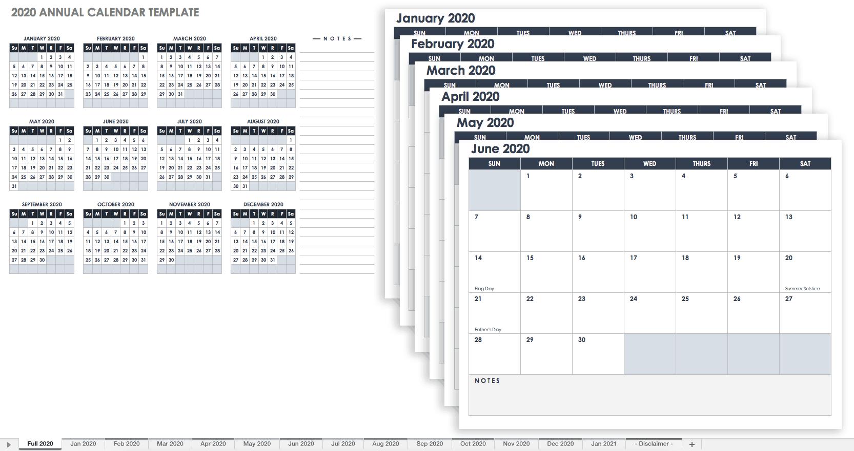 Excel 12 Month Calendar - Colona.rsd7