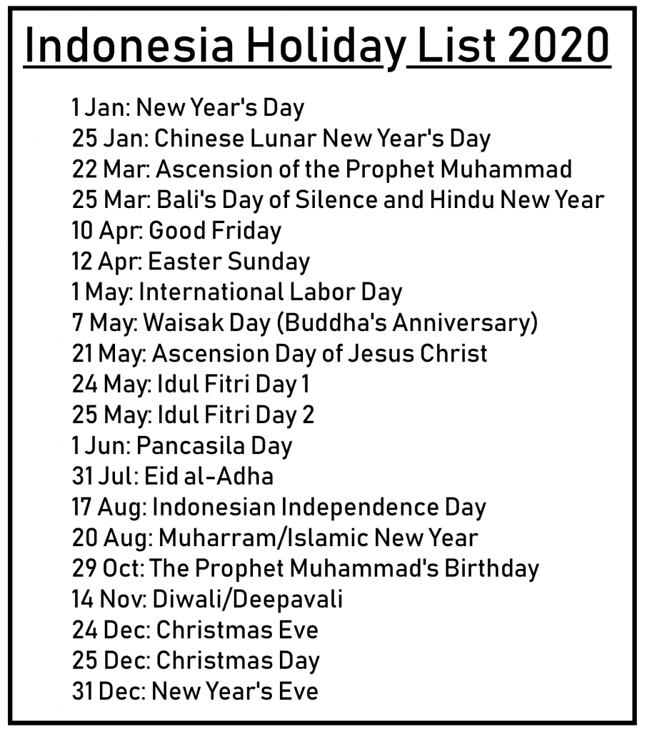 😄printable Free Download Indonesia Calendar 2020 [Pdf