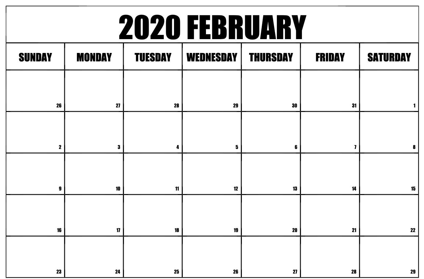 February 2020 Calendar Excel – Manage Work Sheet | 12 Month