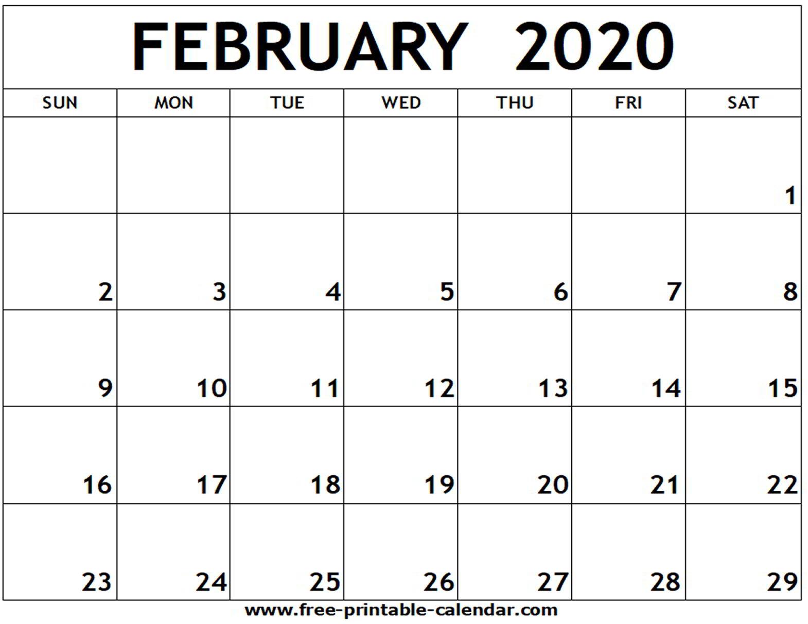 February 2020 Calendar Uk - Colona.rsd7