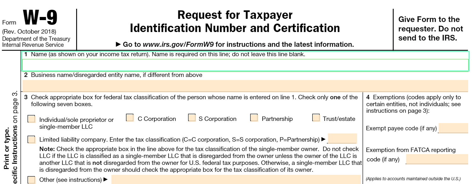 Fillable W-9 Form: Get Free Irs W-9 Template Online (2018