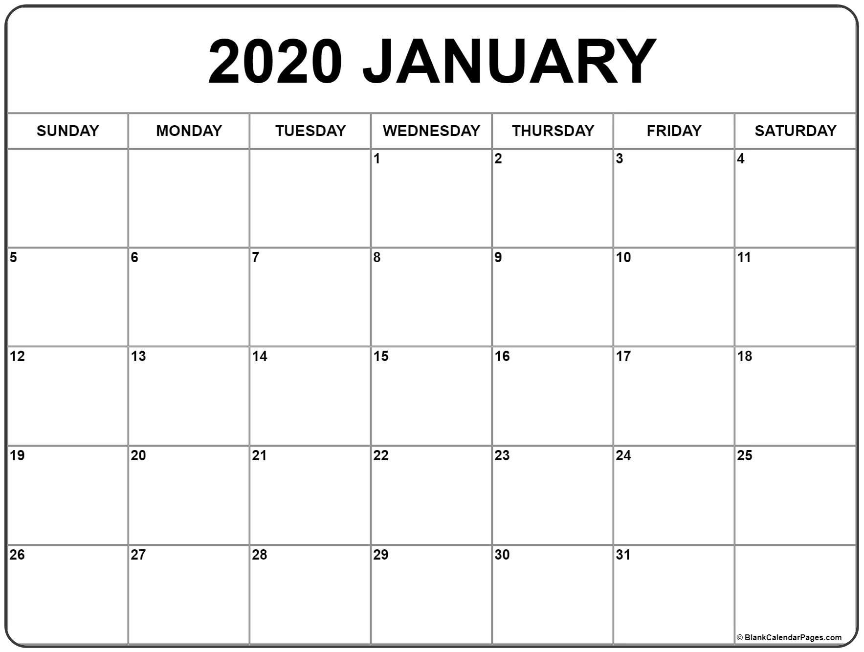 Free 2020 Monthly Calendar - Zohre.horizonconsulting.co