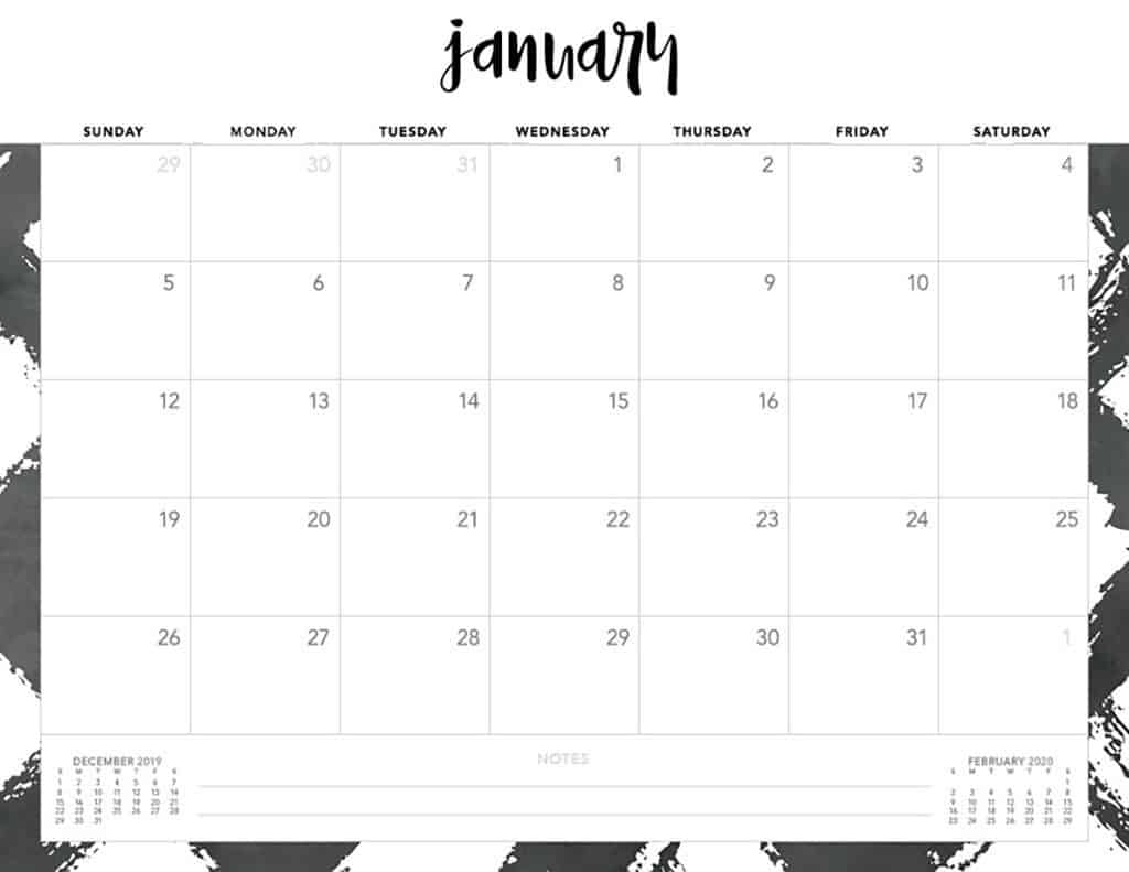 Free 2020 Printable Calendars – 51 Designs To Choose From