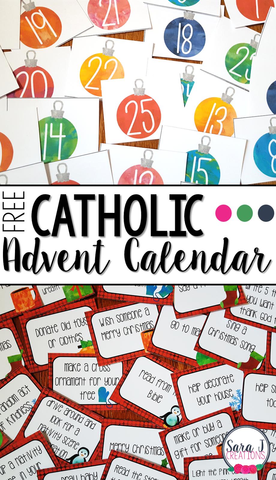 Free Catholic Advent Calendar | Advent Calendar Activities