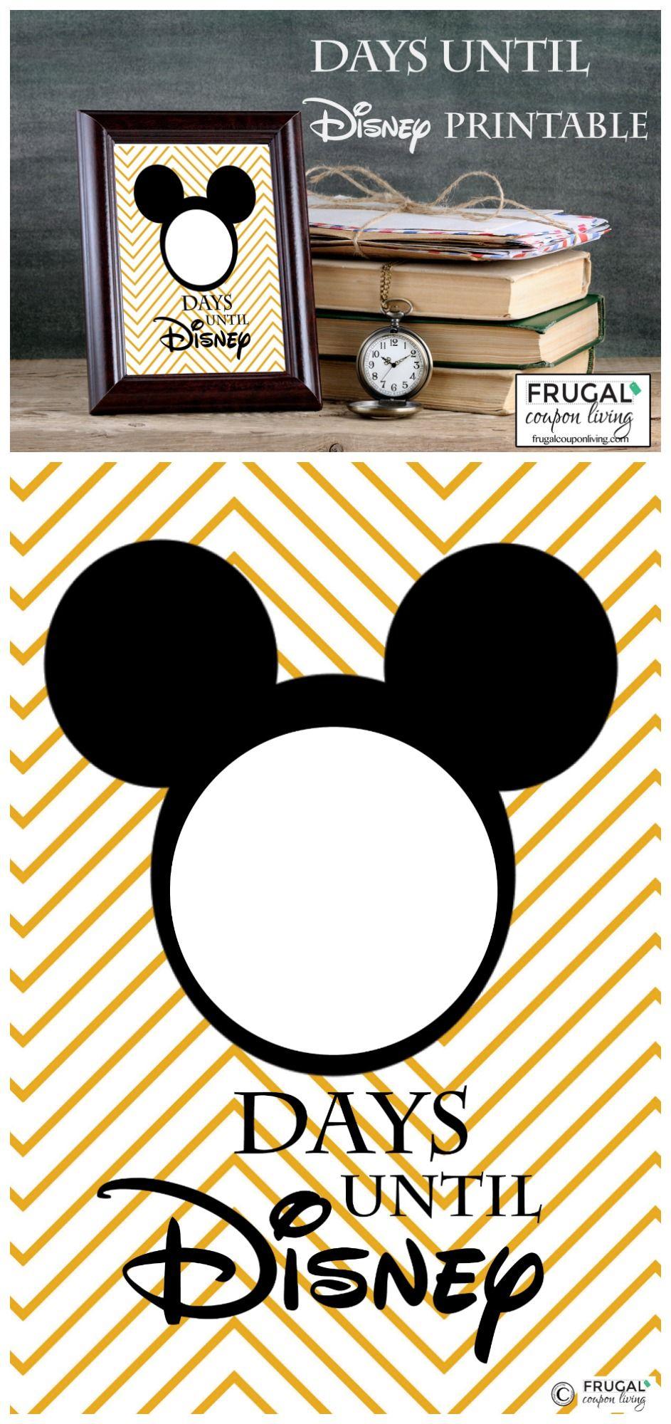 Free Countdown To Disney Printable | Disney Countdown