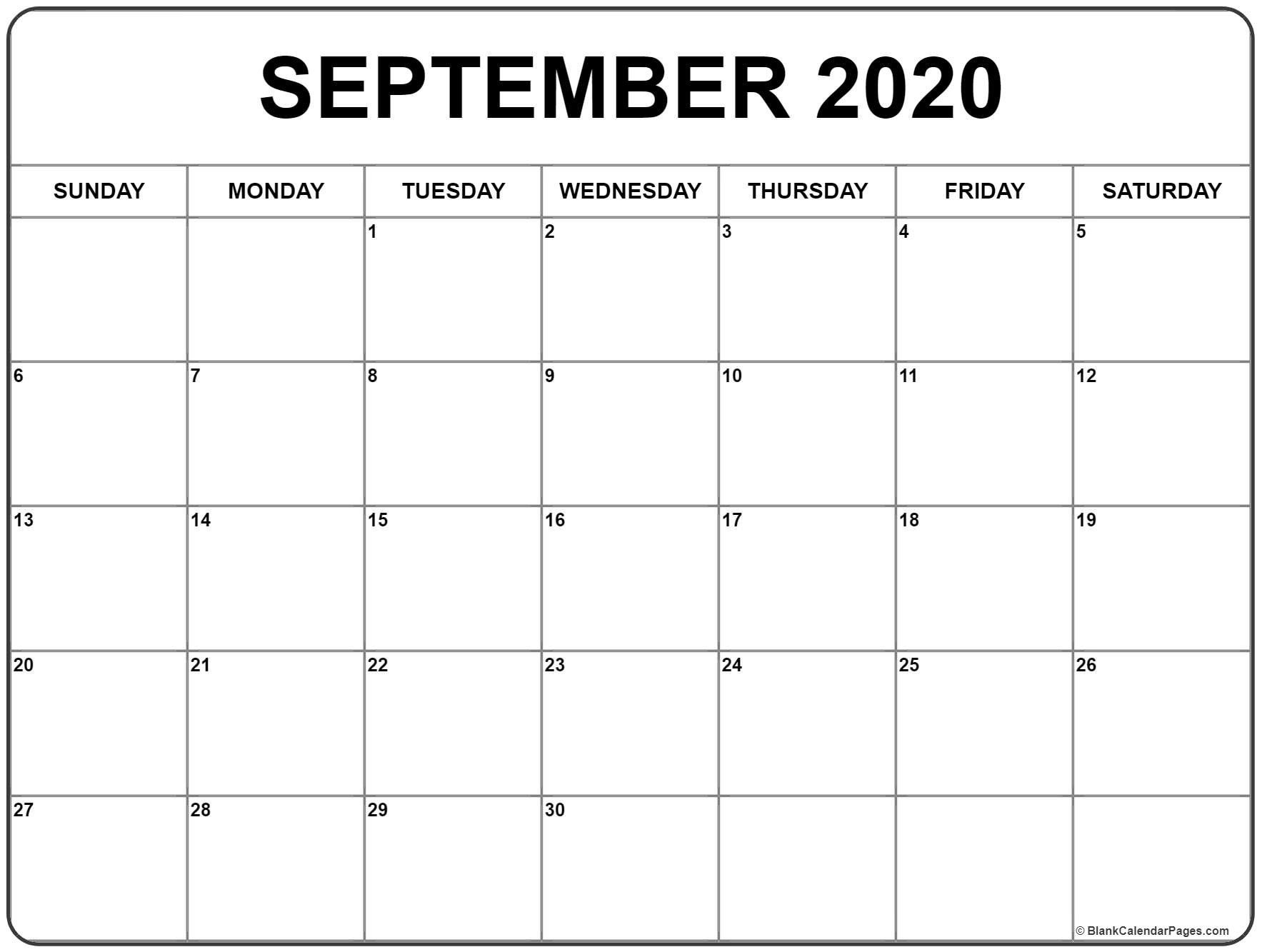 Free Download September 2020 Calendar 51 Calendar Templates
