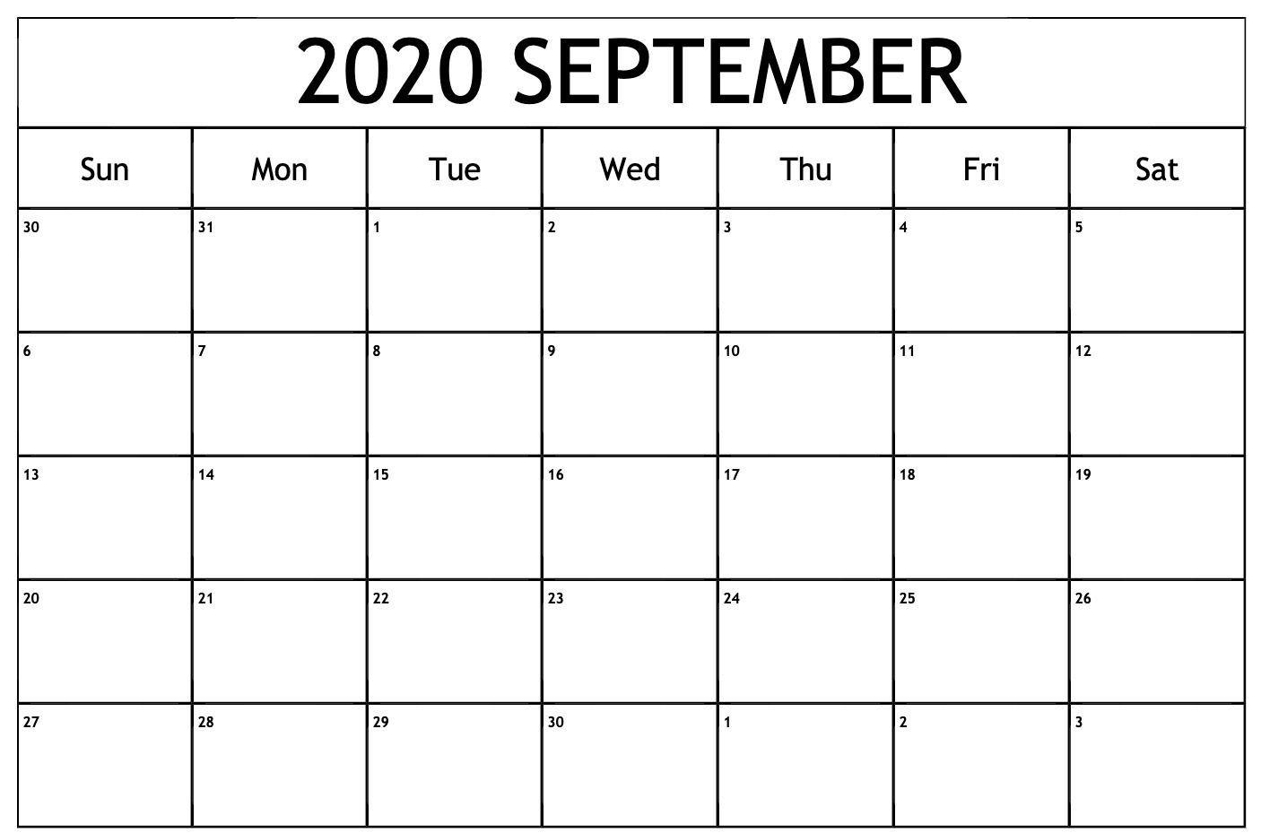 Free Download September 2020 Calendar Wallpapers Top