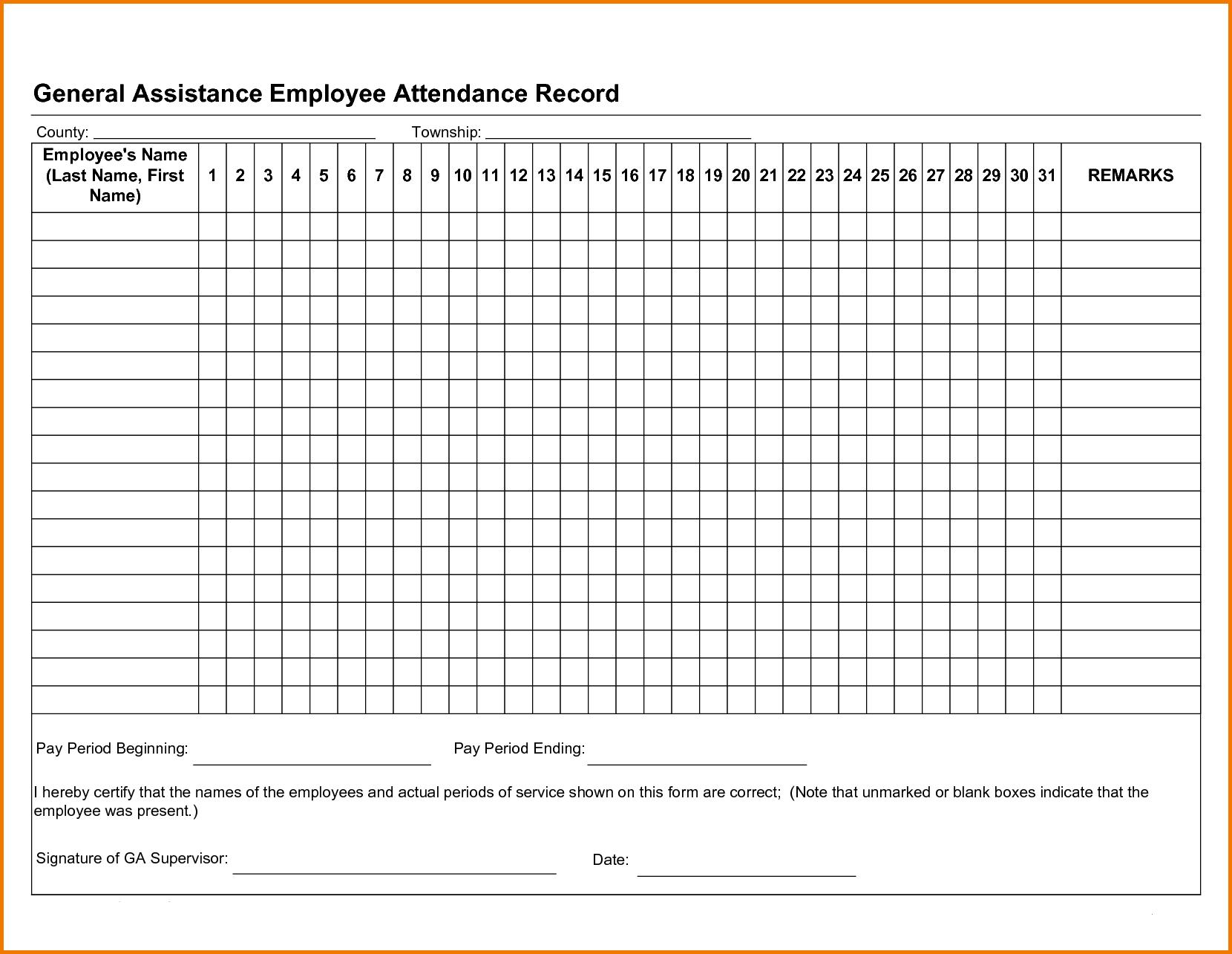 Free Employee Attendance Tracker Excel 2019   Attendance