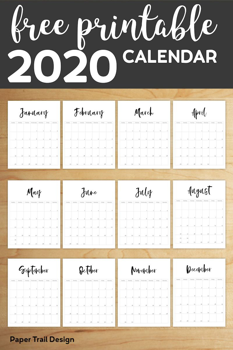 Free Printable 2020 Calendar Template Pages | Планировщик