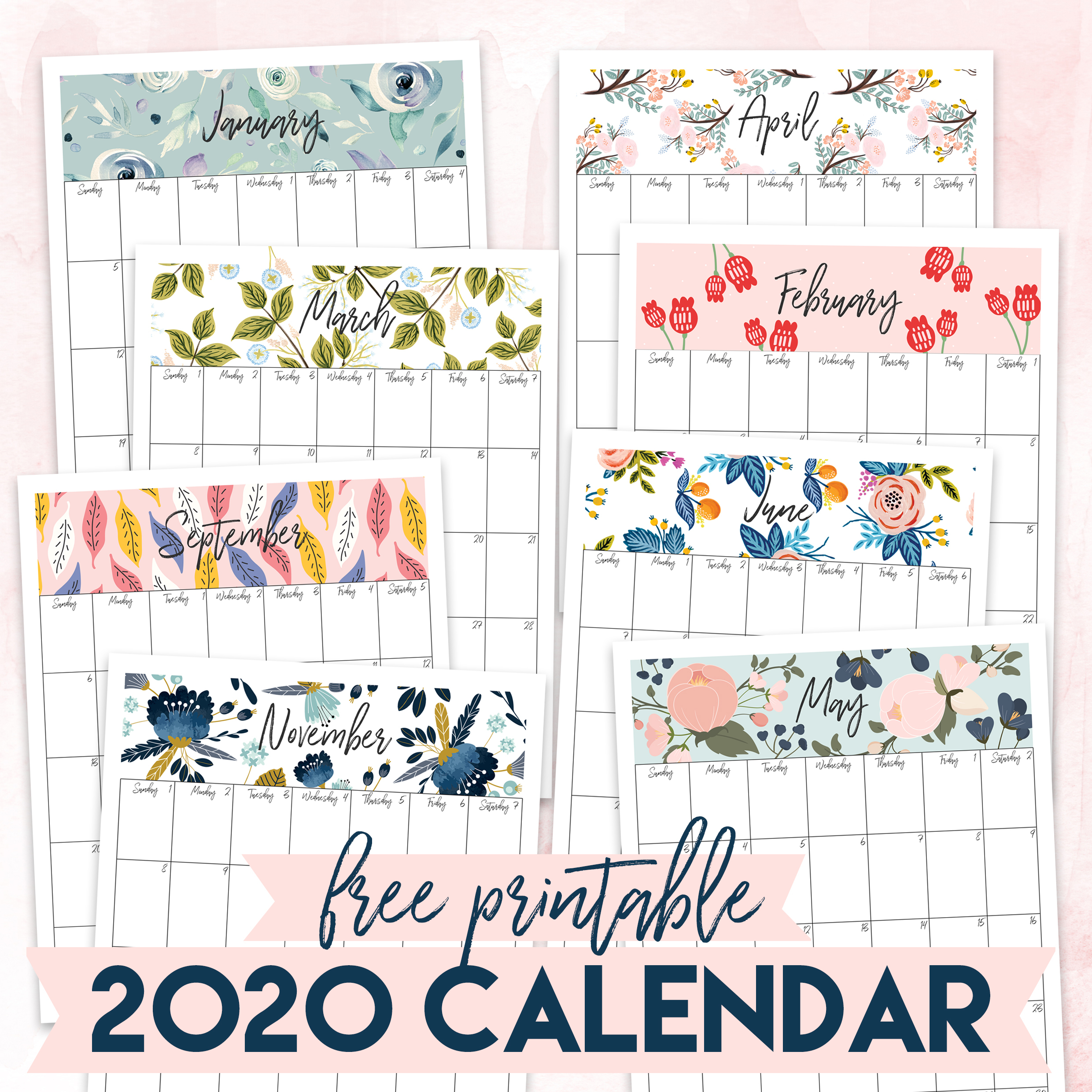 Free Printable 2020 Calendar - The Craft Patch