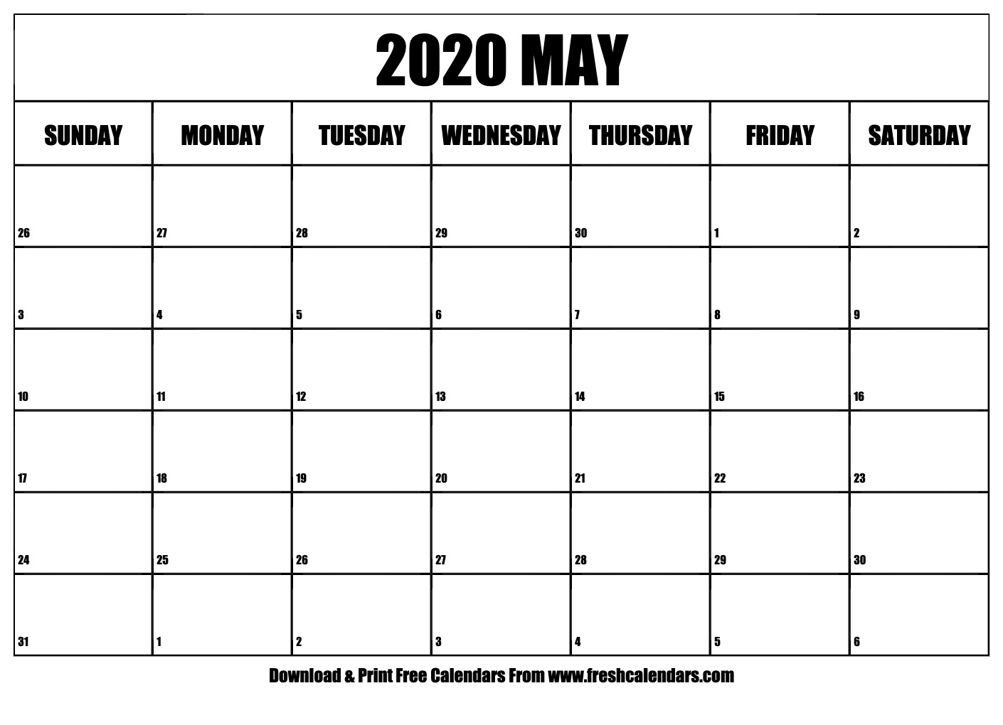 Free Printable 2020 Monthly Calendar With Holidays-Free