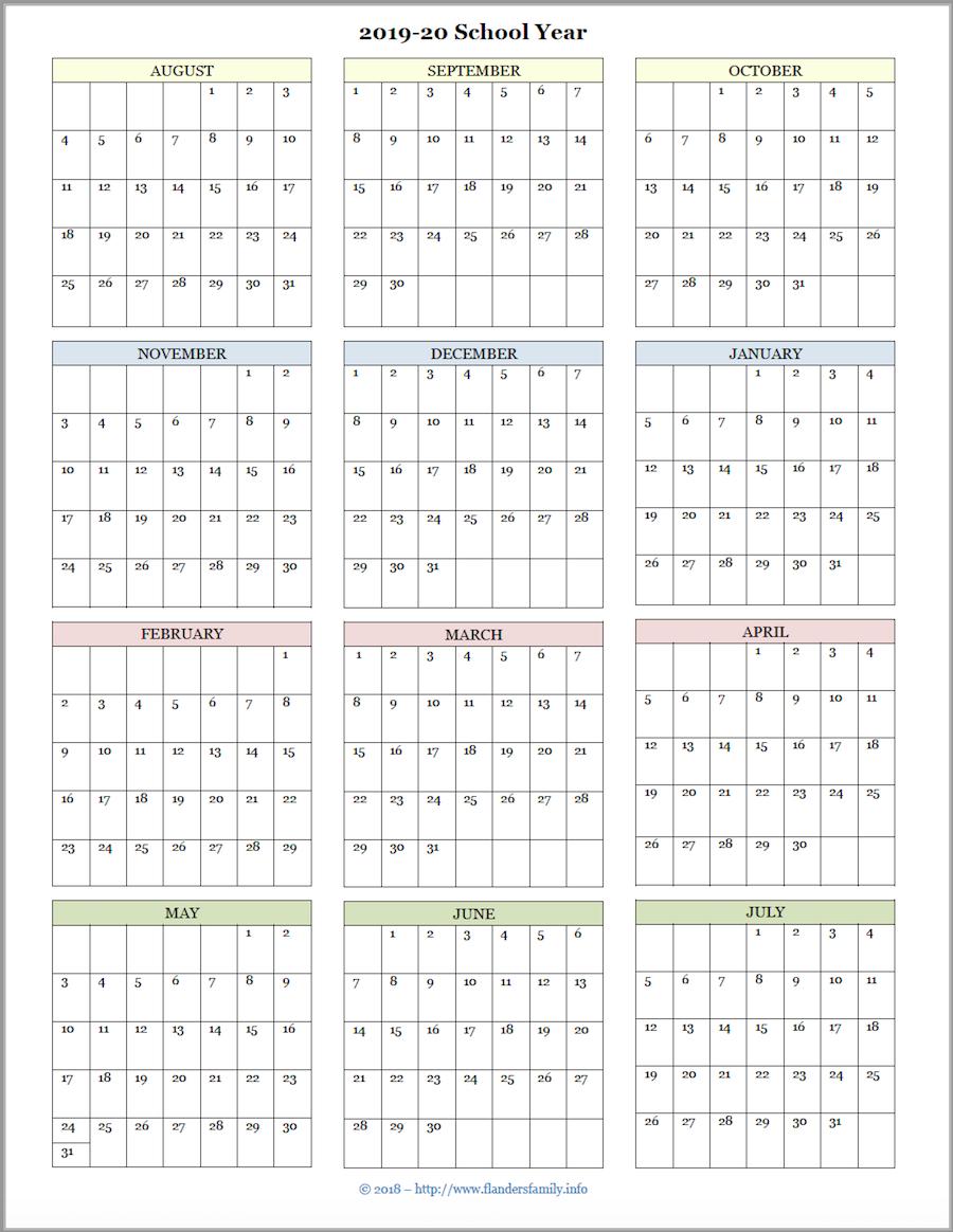 Free Printable Attendance Record & Academic Calendar