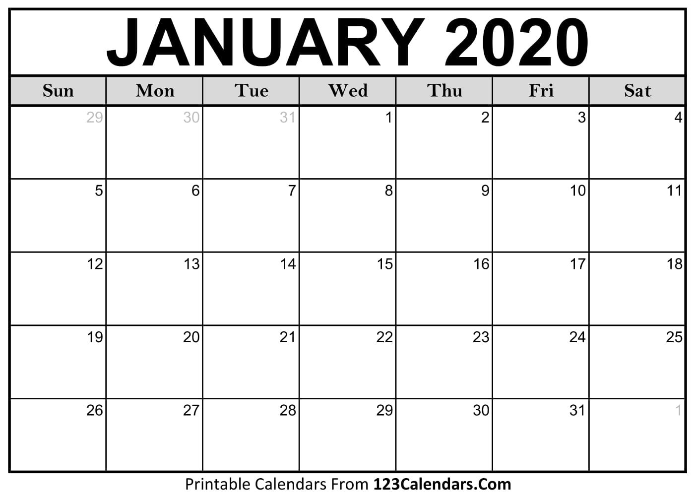 Free Printable Calendar | 123Calendars-Blank 2 Pages