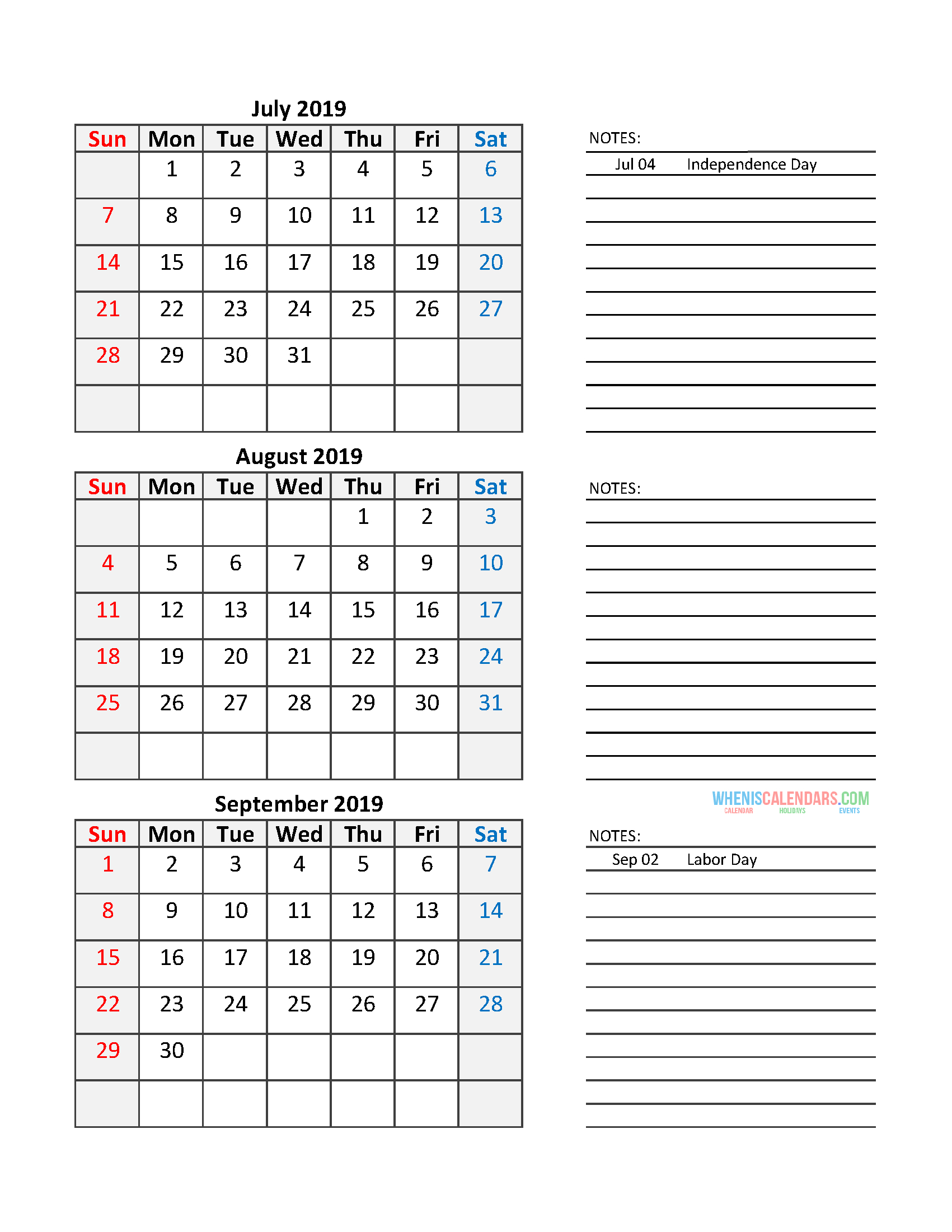 Free Printable Quarterly Calendar 2020 - Colona.rsd7