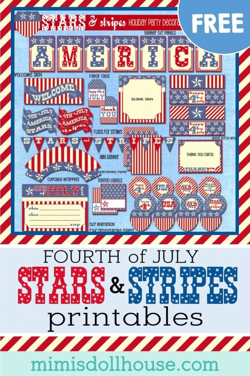 Free Vintage Fourth Of July Printables | Fourth Of July, 4Th