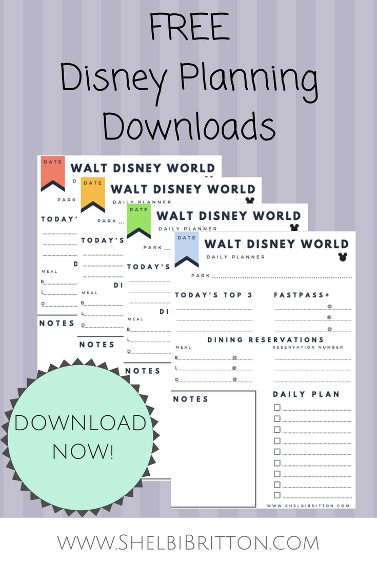 Free Walt Disney World Vacation Planning Printables
