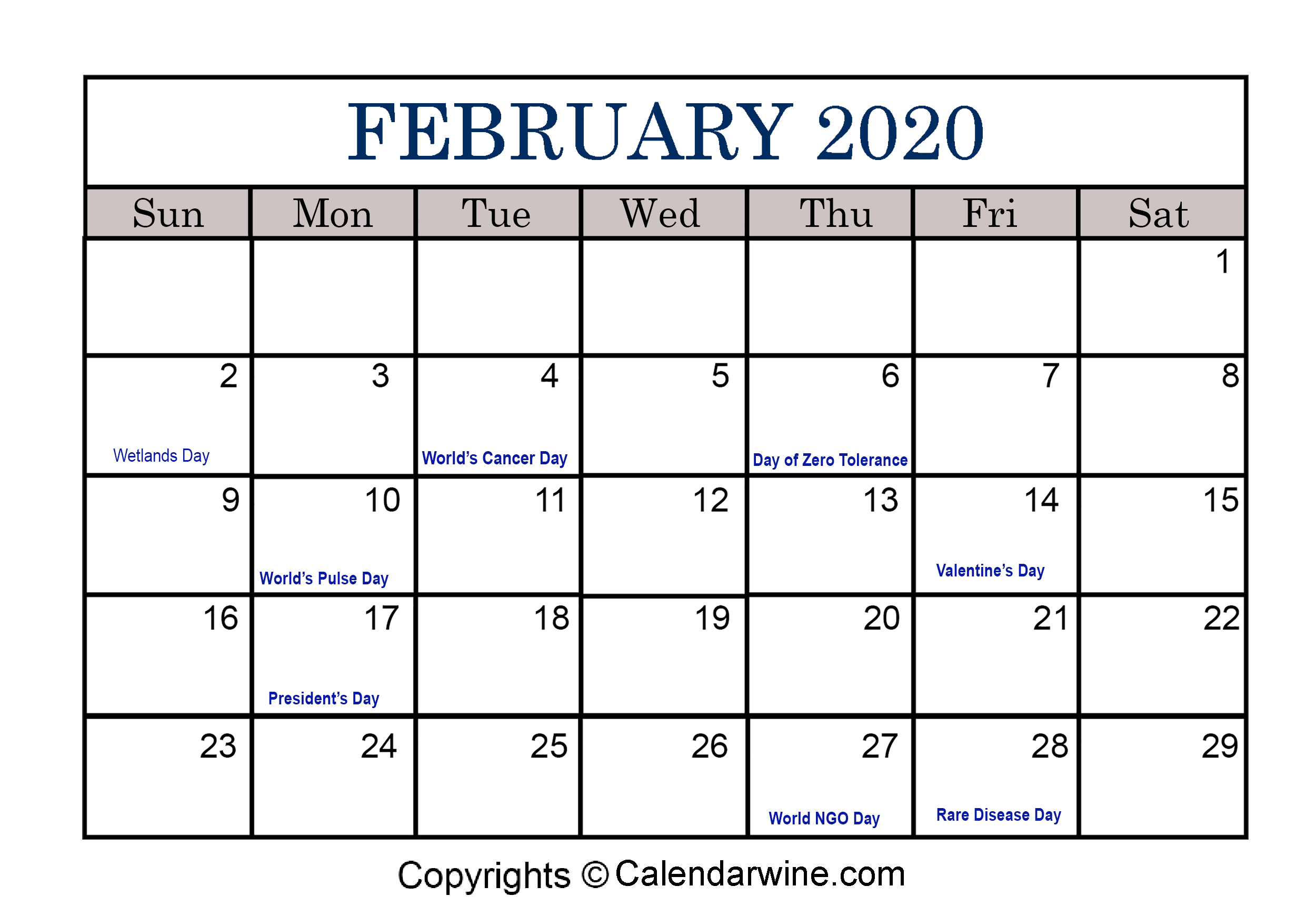Full List Of February Holidays 2020 For Usa Uk Canada