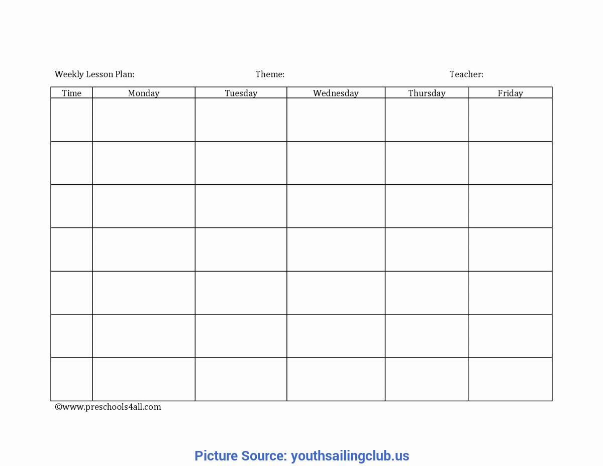 Good Blank Lesson Plan Template Daycare Home Lesson Plans