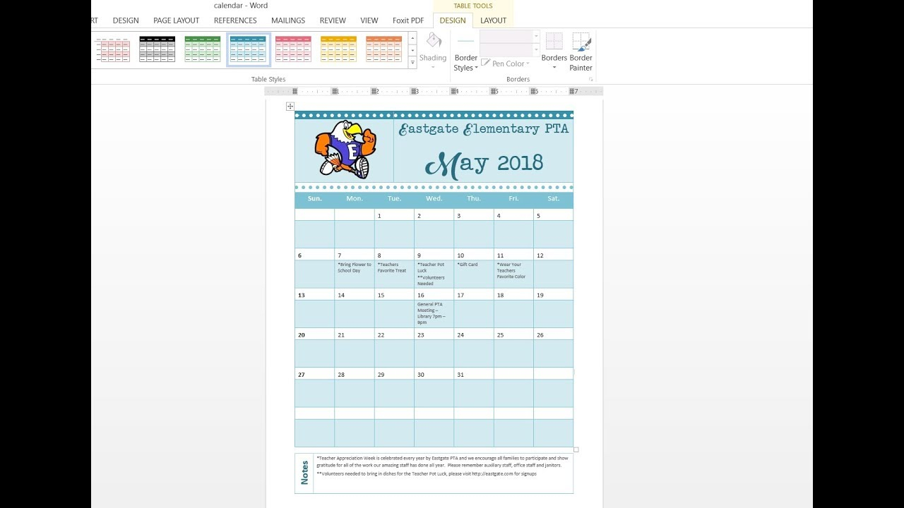 How To Easily Make A Custom Calendar Using Ms Word And Templates