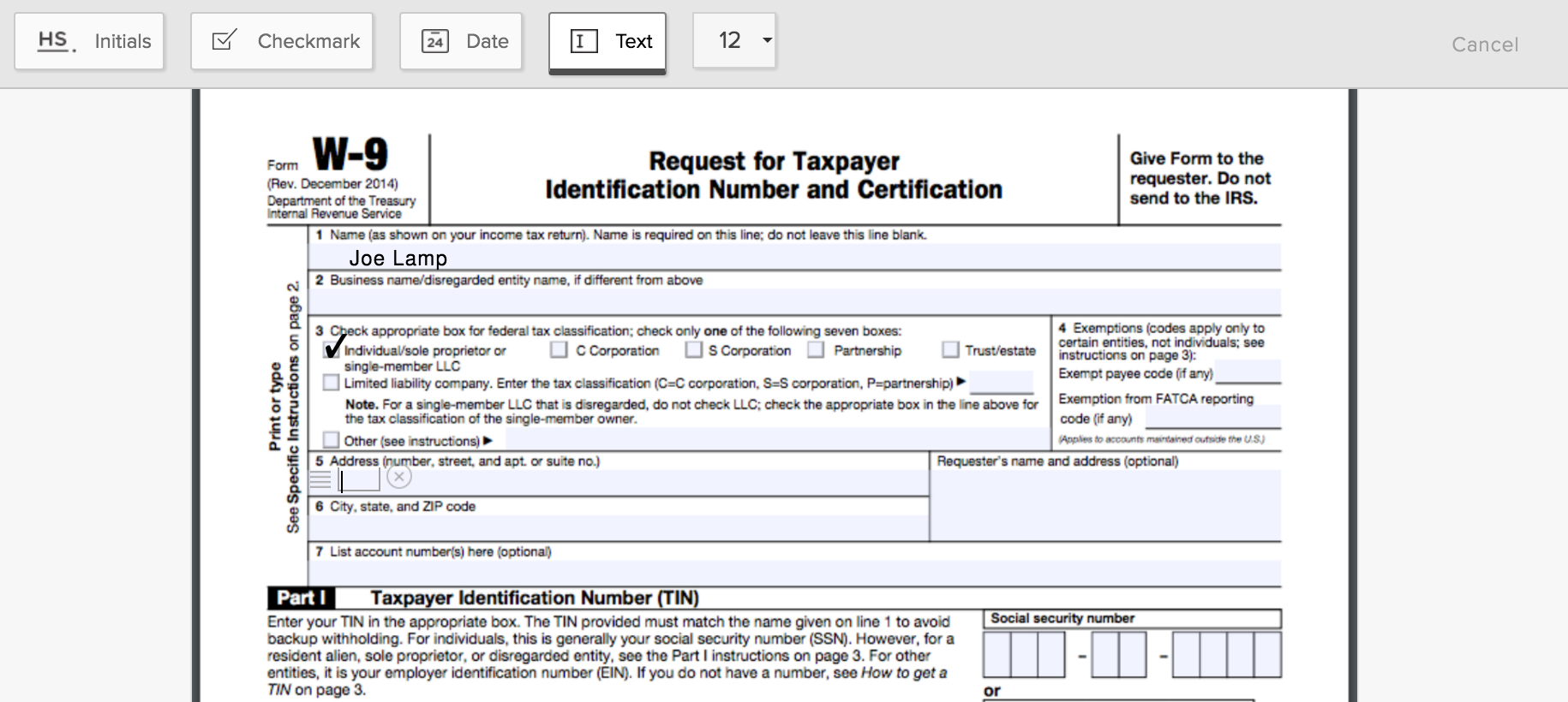 How To Fill Out A W-9 Form Online - Hellosign Blog