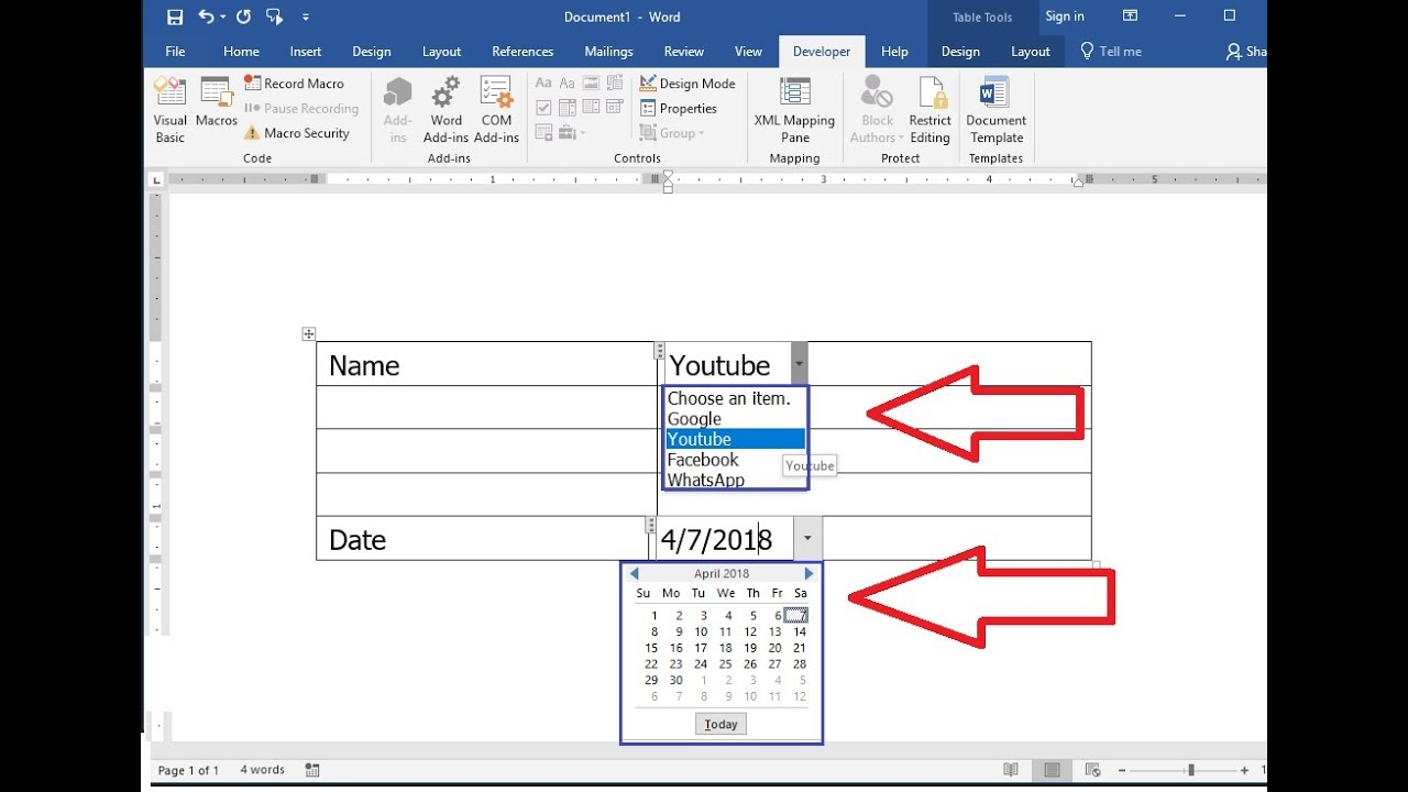 How To Insert Calendar In Word - Colona.rsd7