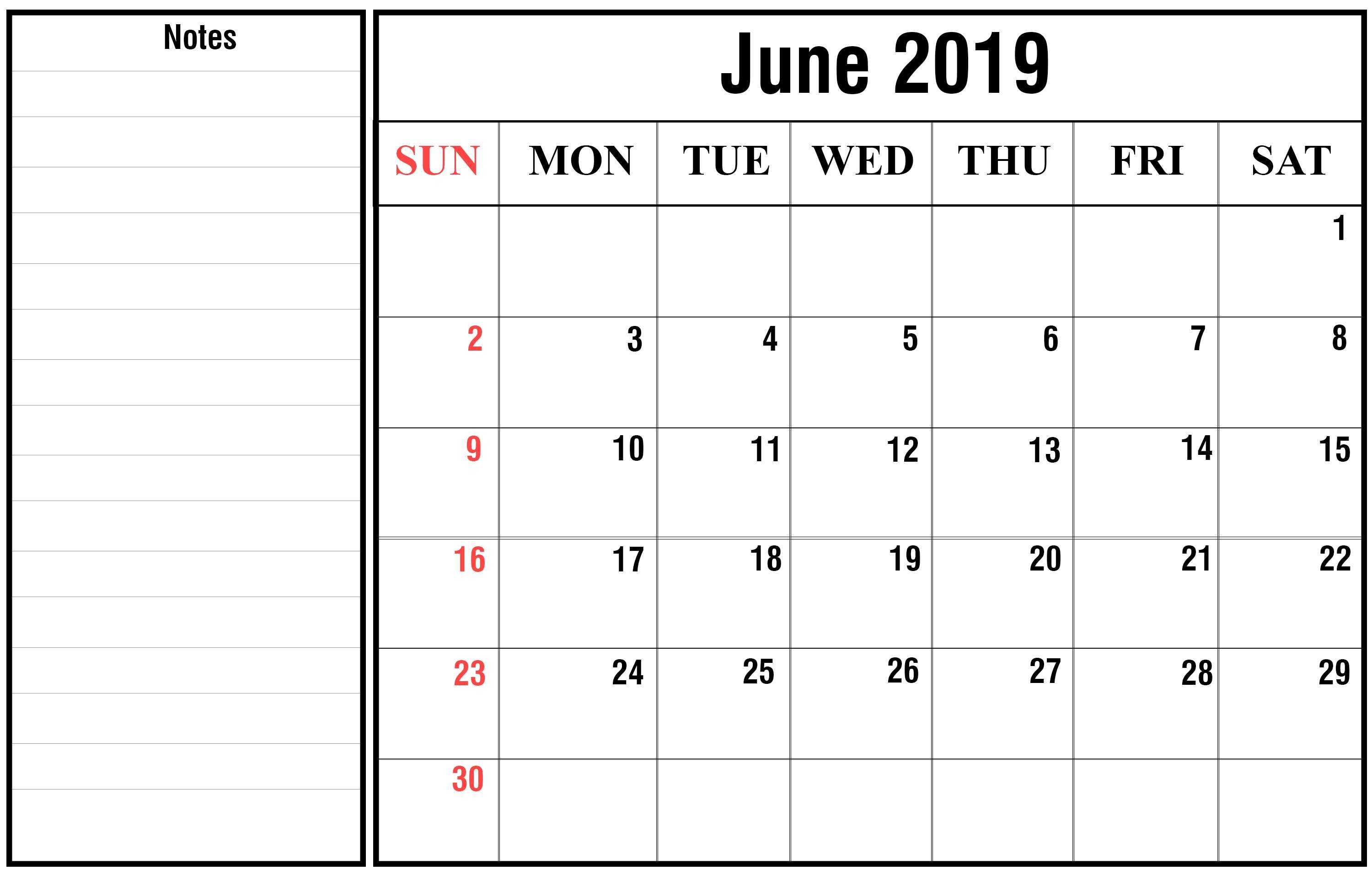 How To Schedule Your Month With June 2019 Printable Calendar