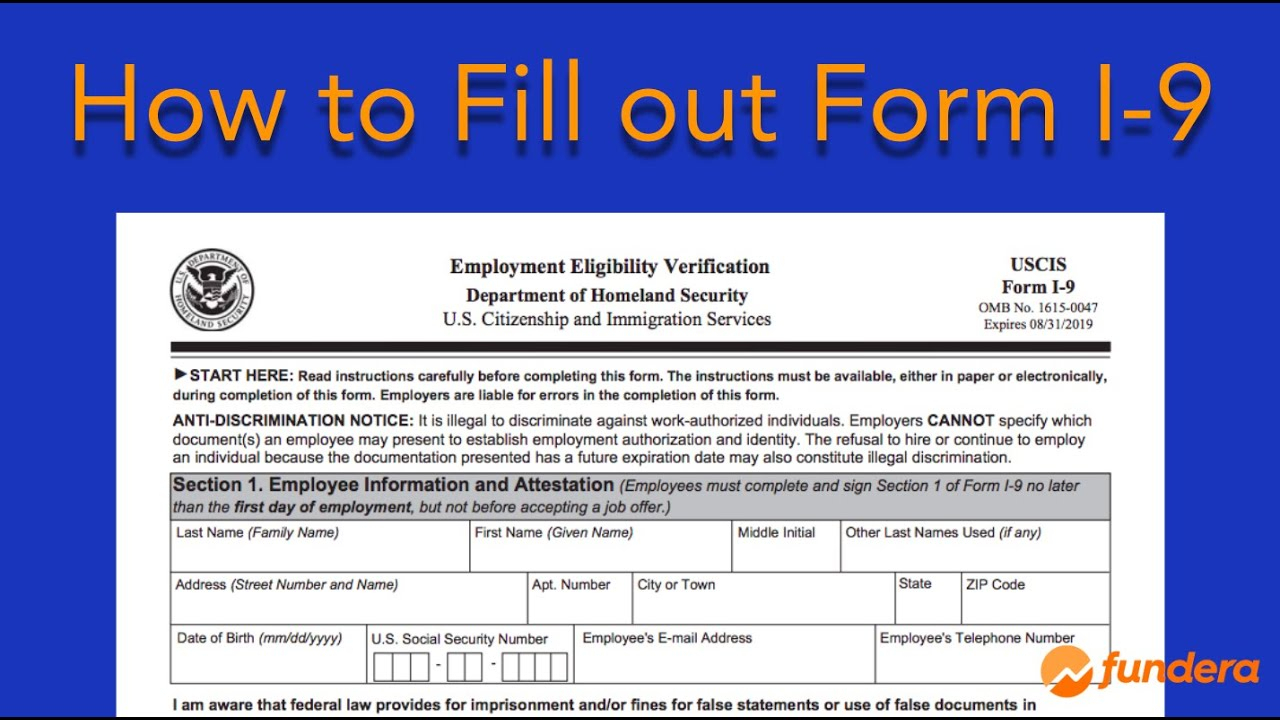 I-9 Form—What Is It, Where To Find It, And How To Fill It Out