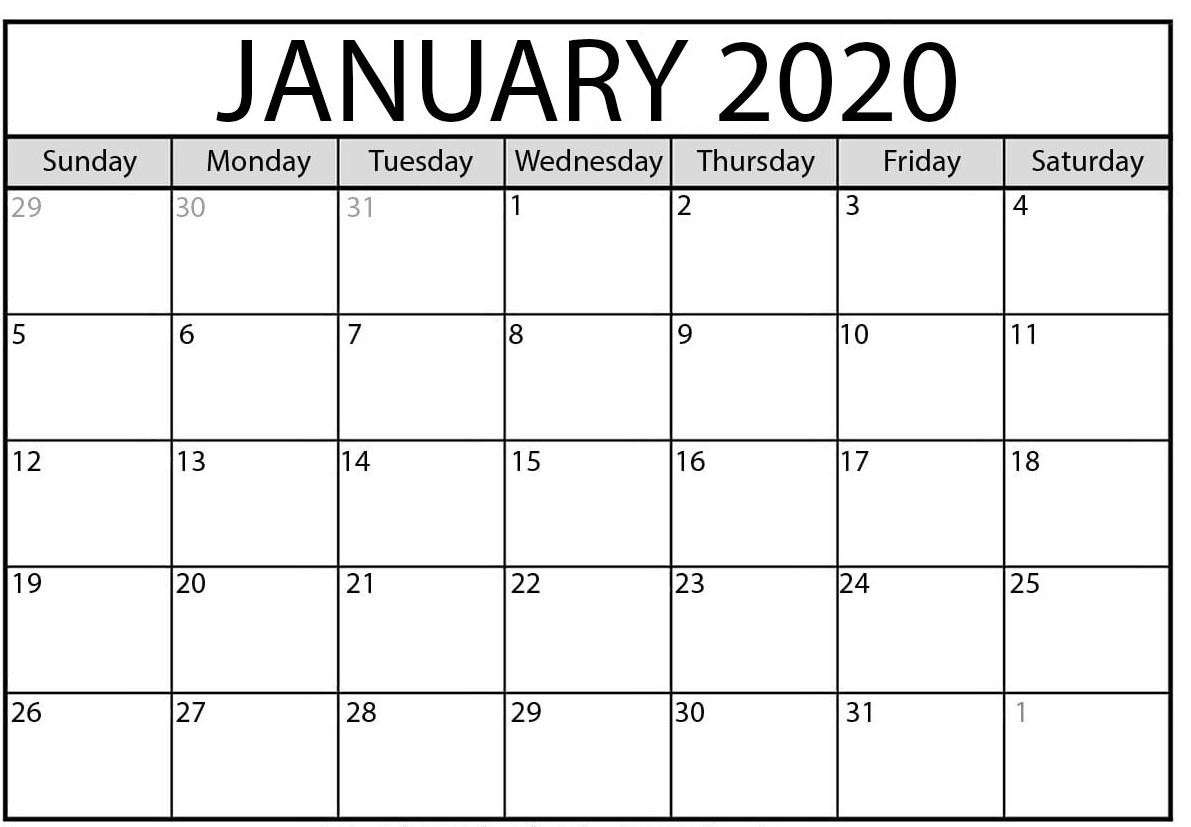 January 2020 Calendar | February 2020 Yearly Calendar Template!!