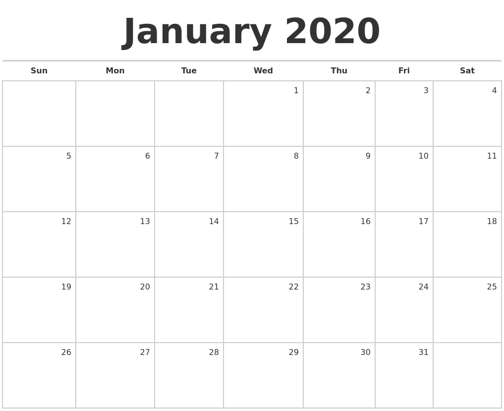 January 2020 Calendar Nz | Calendar Template Printable