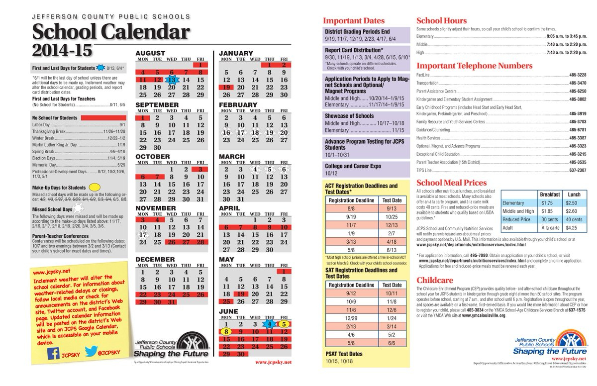 """Jcps On Twitter: """"new Jcps Calendar Includes Last Day (June"""