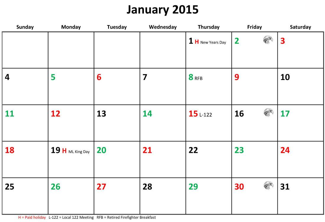 Jfrd 56 Hour Firefighter Shift Calendar 2015