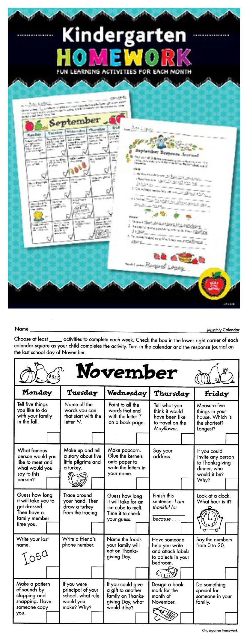 Kindergarten Homework: Fun Learning Activities For Each