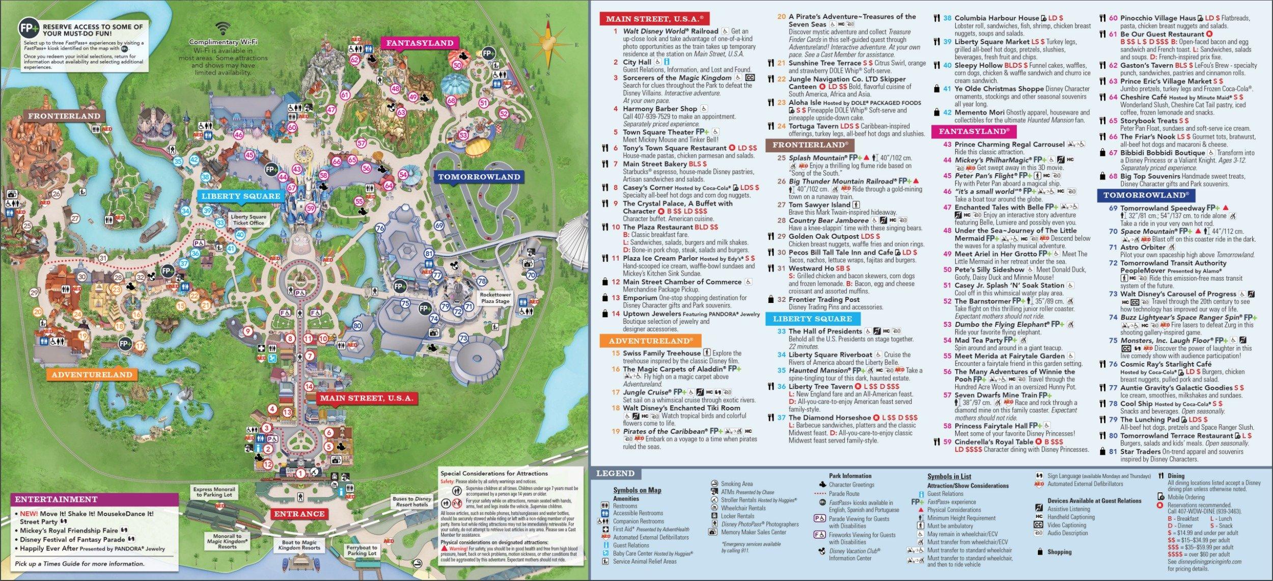 Magic Kingdom Park Map - Walt Disney World