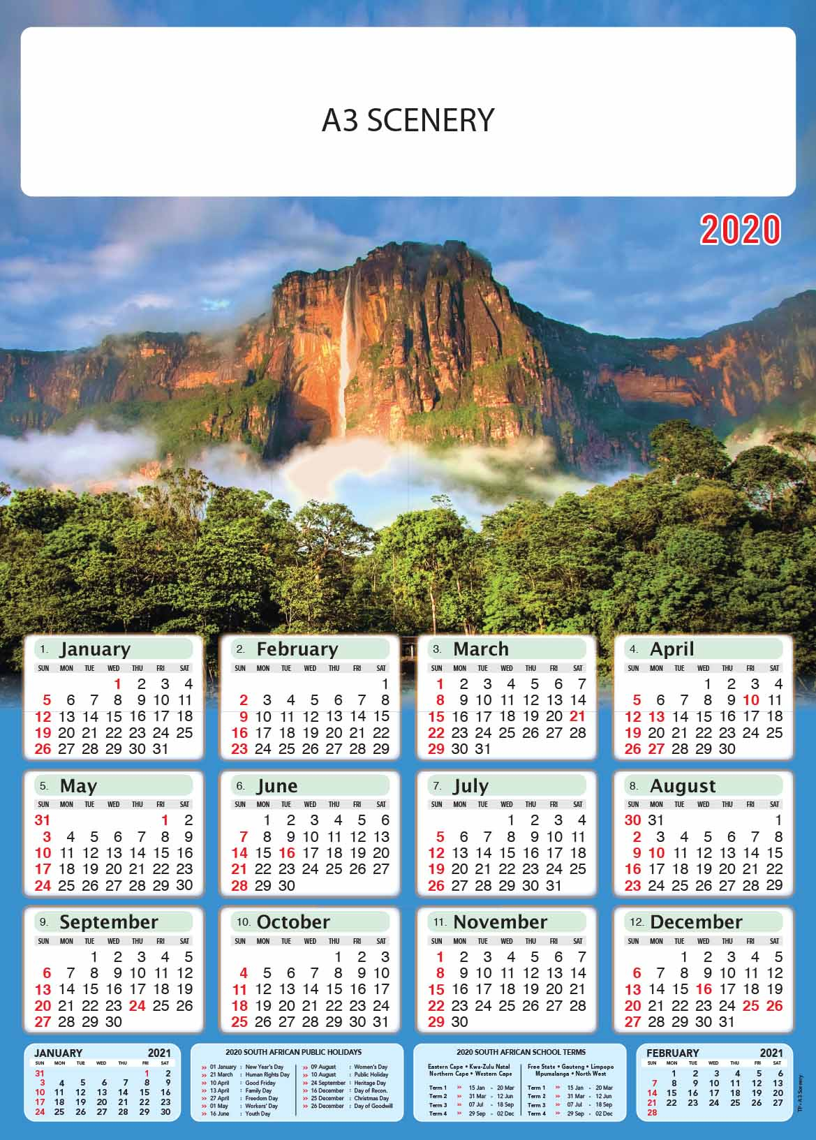 March 2020 Calendar With Holidays South Africa - You Need