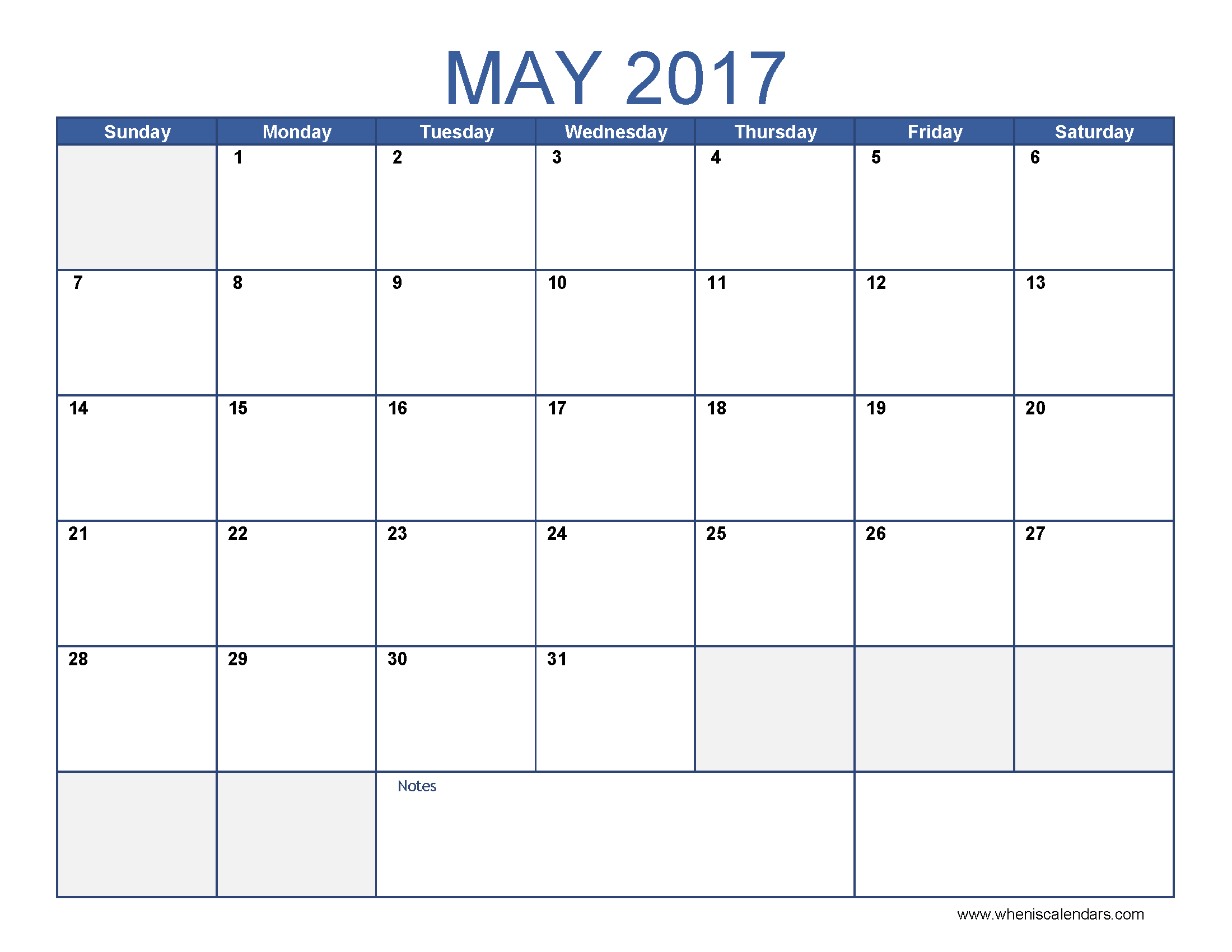 May 2017 Calendar With Jewish Holidays 4 - Free Printable