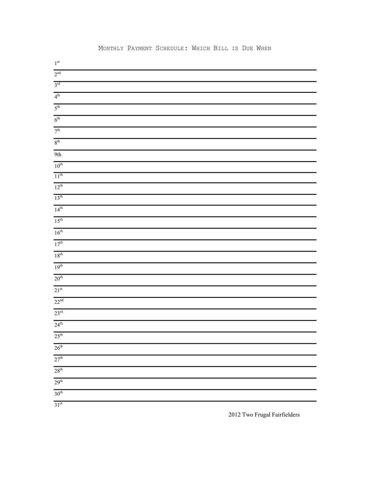 Monthly Calendar List Format - Colona.rsd7