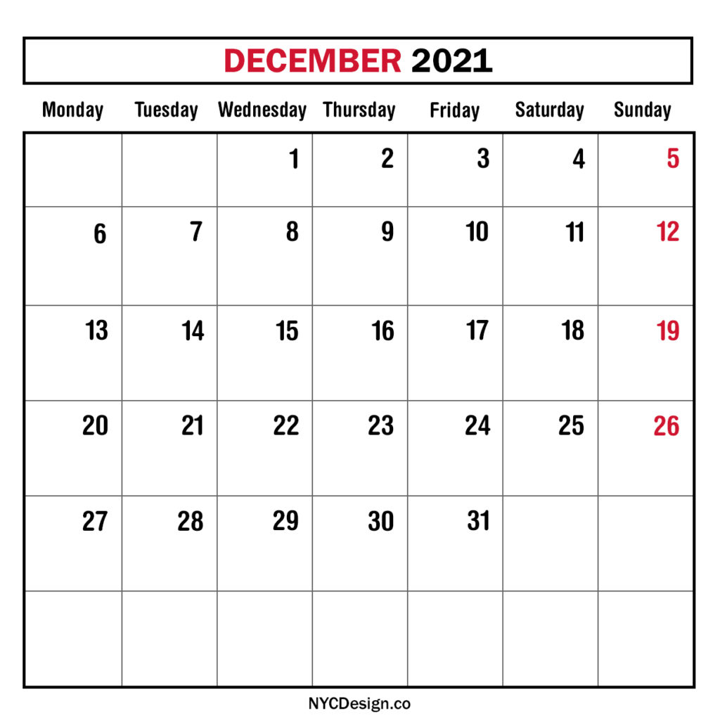 Monthly Calendars Monday Start – Nycdesign.co | Calendars