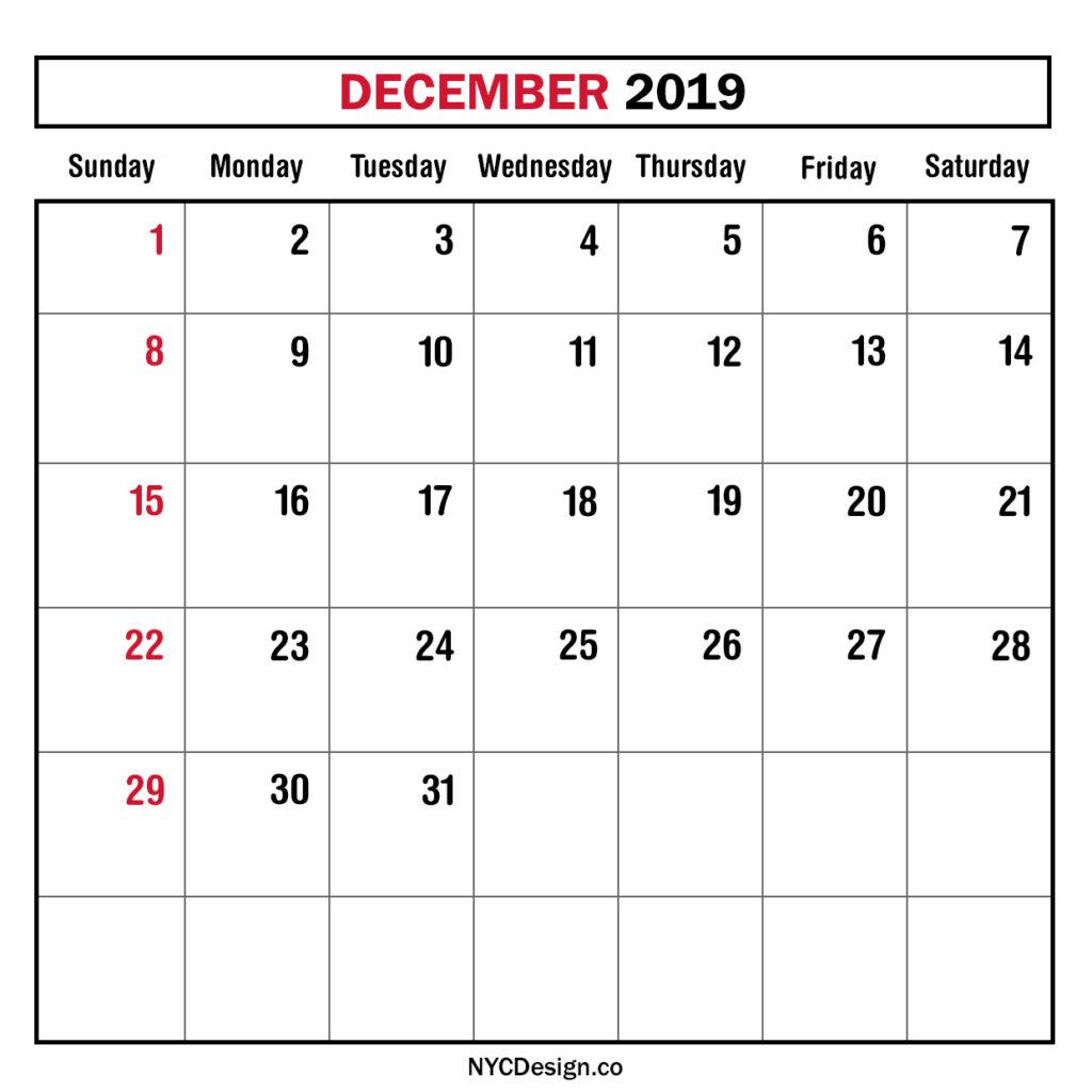 Monthly Calendars Sunday Start – Nycdesign.co | Calendars