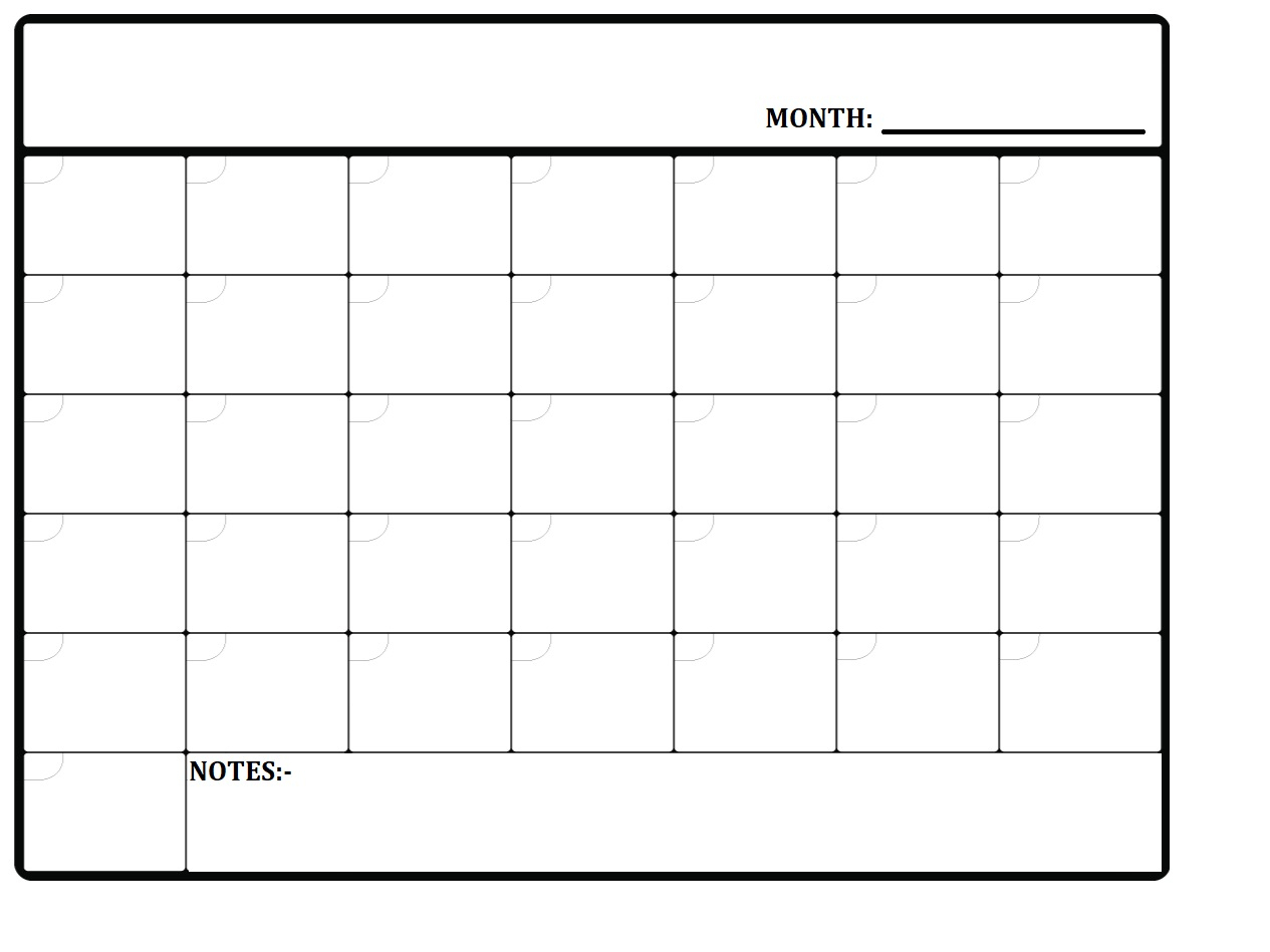 Monthly Planner - Calendar-Kart