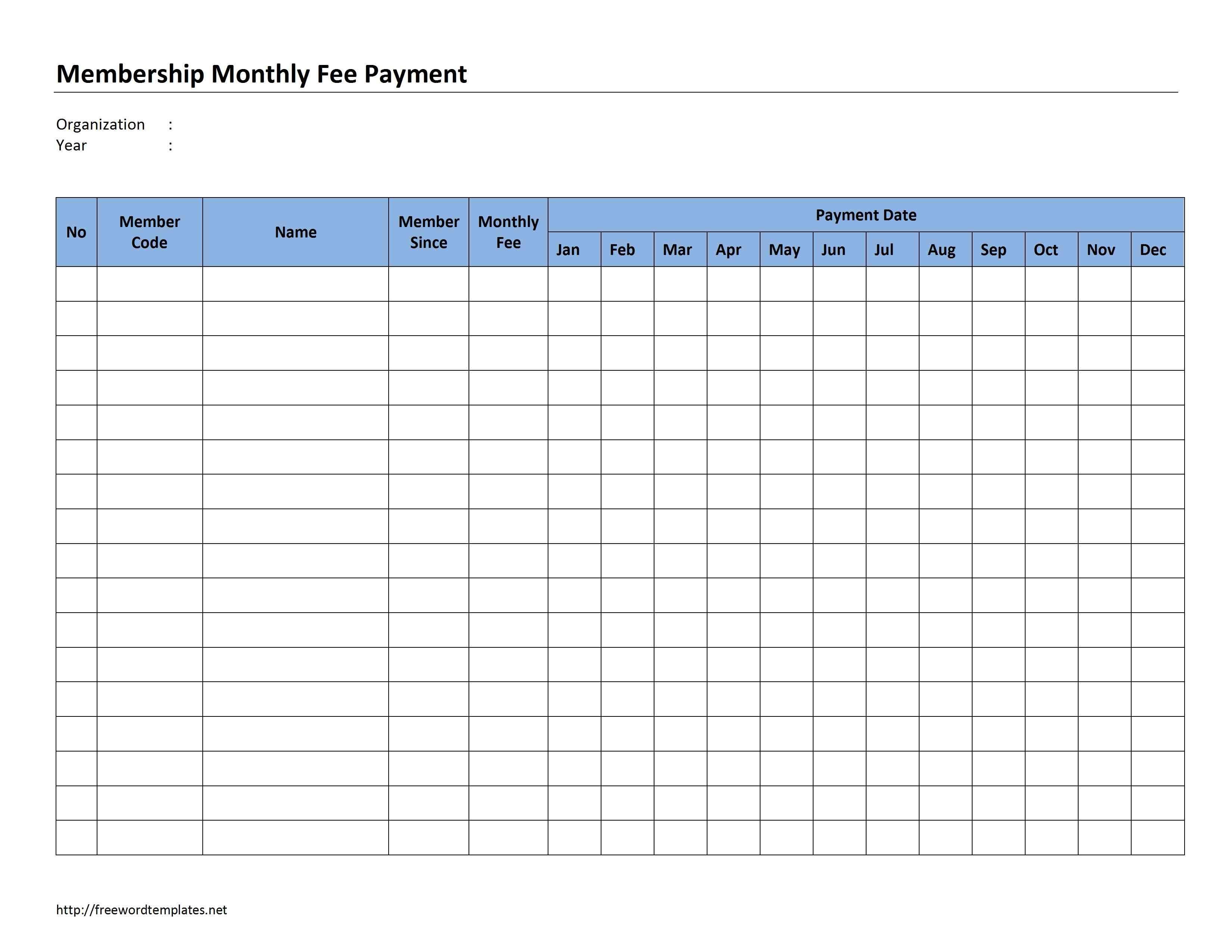 Monthly+Payment+Record+Template | Invoice Template, Event