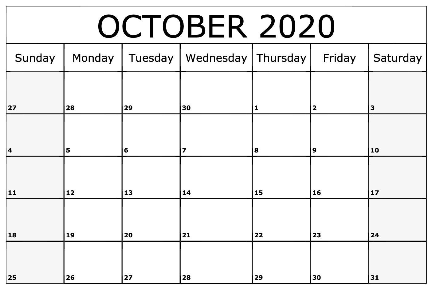 Most Recent Images October 2020 Calendar Thoughts A Custom