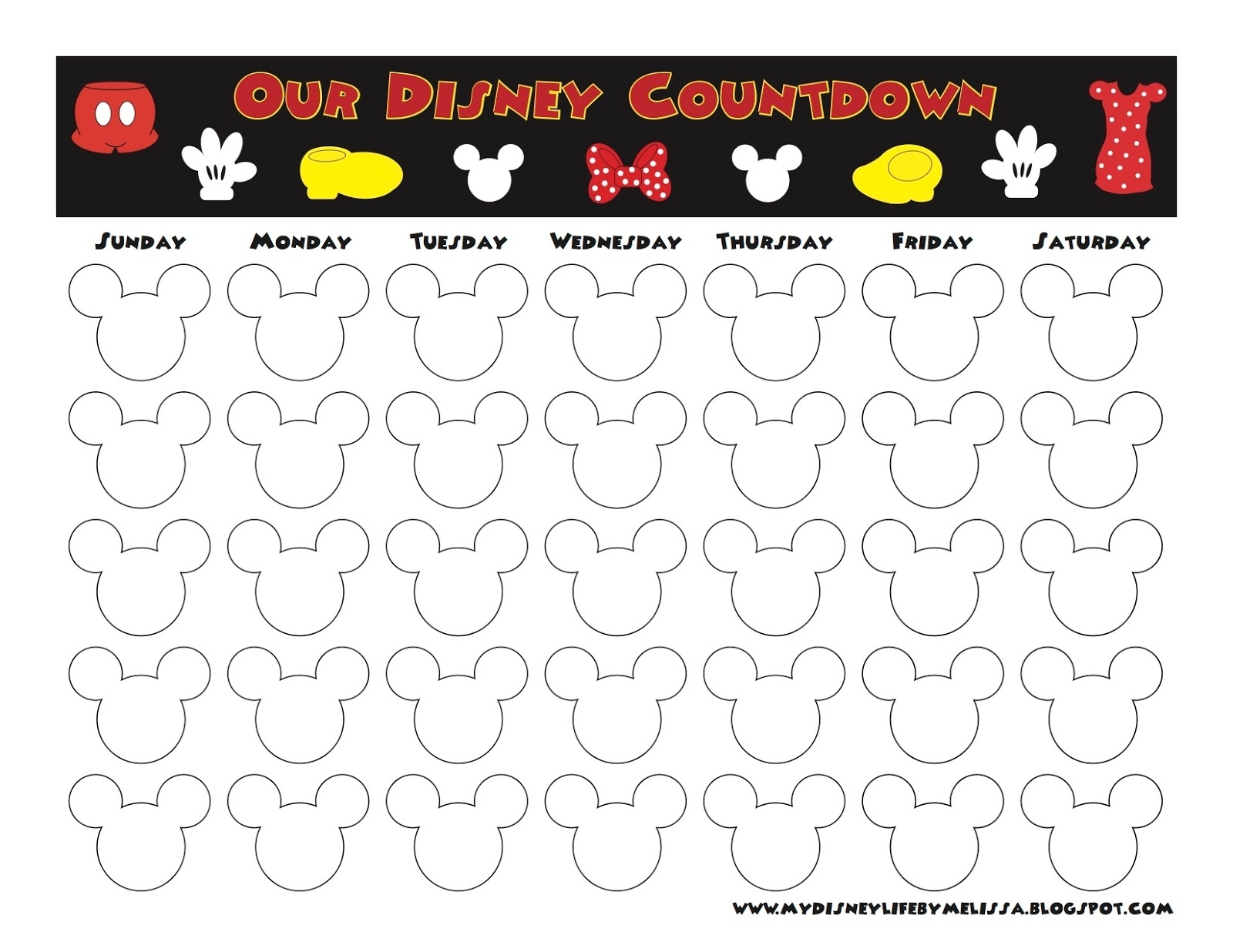 My Disney Life: Countdown Calendars-Disney Countdown