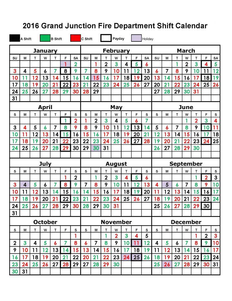 New 48 Illustration Houston Fire Department Shift Calendar